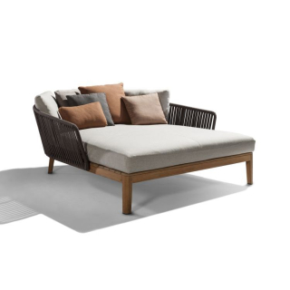 Tribu Daybed MOOD, Teakholz / Tricord (Polyolefine), Farbe: Earthbrown
